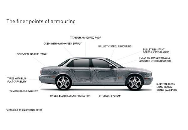 jaguar armoured xj picture