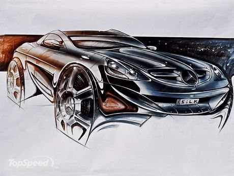 1.Official design sketch from Mercedes-Benz