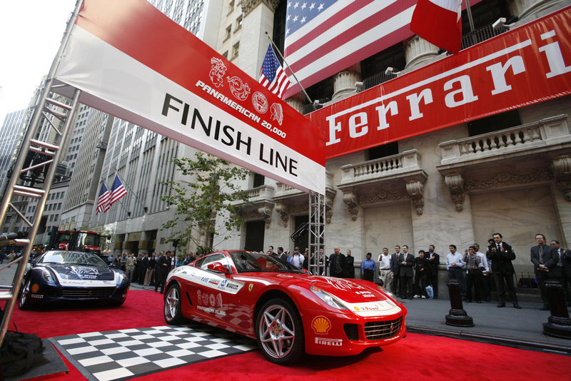Ferrari Panamerican ends in New York
