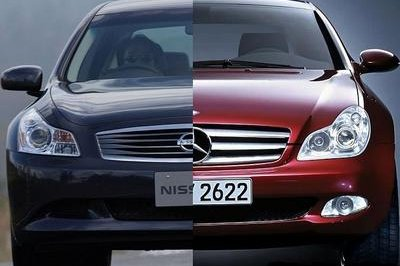 Nissan Skyline inspired from Mercedes CLS-Class?