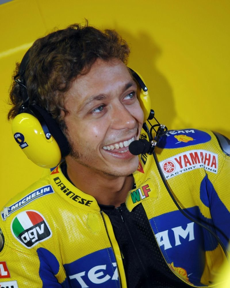 Valentino Rossi is back on track