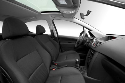 BLACK SEAT COVERS WITH GREY PIPING 07-ON PEUGEOT 207 GTI
