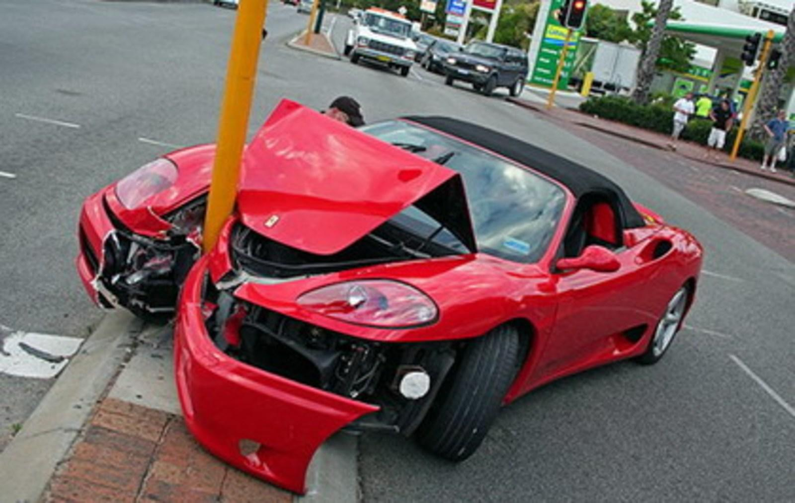 Ferrari 360 Spider Crashed Into A Pole News - Gallery - Top Speed
