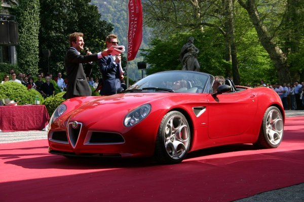 the new alpha romeo 8c spyder ready for 2008 car news top speed. Black Bedroom Furniture Sets. Home Design Ideas