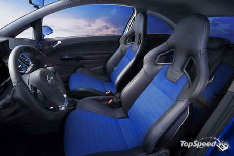 New corsa vxr blue for Opel corsa e interieur