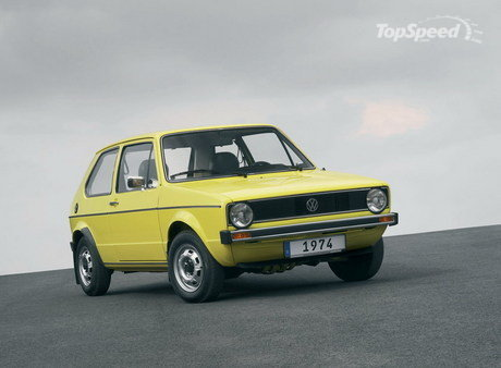 1976 Volkswagen Golf I Gti. 1974 - Debut of the first Golf
