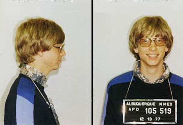 bill gates 8217 famous mugshot due to a speed ticket in a porsche picture