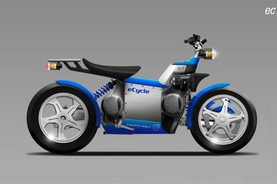 eC1, eC2, eC3 - Hybrid motorcycle concepts from eCycle and Machineart
