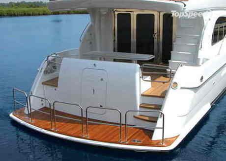 The 64 Motor Yacht incorporates Hatteras' popular convex hull shape, ...