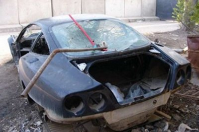 Exotic cars destroyed in Irak