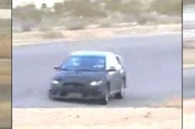 Mitsubishi Evolution X Spy Shots at Willow Springs