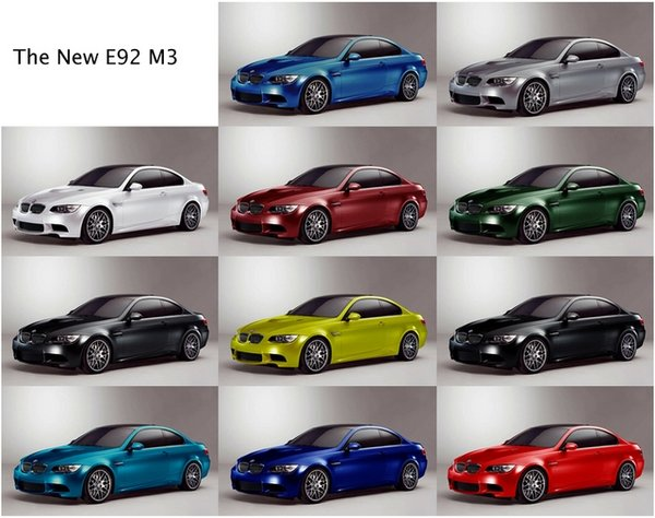 need help choosing the color of your new bmw m3 news