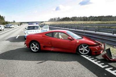 Police officer charged for chasing speeding Ferrari
