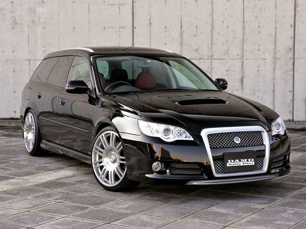 2007 subaru legacy tuned by damd review top speed. Black Bedroom Furniture Sets. Home Design Ideas