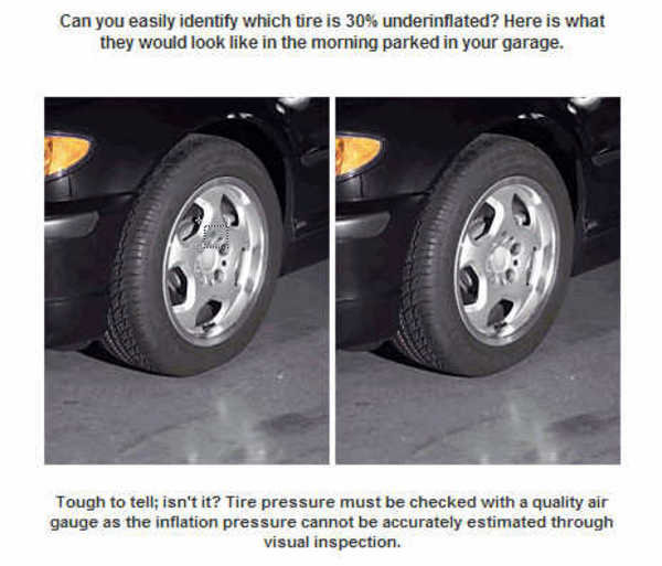 Under Inflated Tires Cause Additional Fuel Consumption
