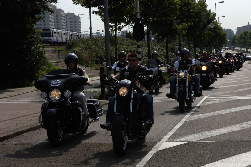 "Hells Angels Amsterdam invite you to an ""open for all"" party"