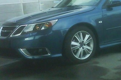 Saab 9-3 Convertible facelift - spy shot