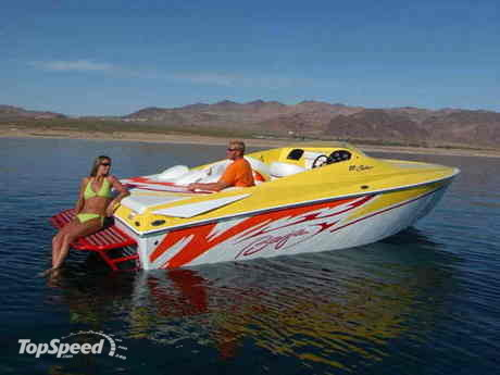Backed by a monster MerCruiser, the 23 Outlaw packs a lot of power, ...