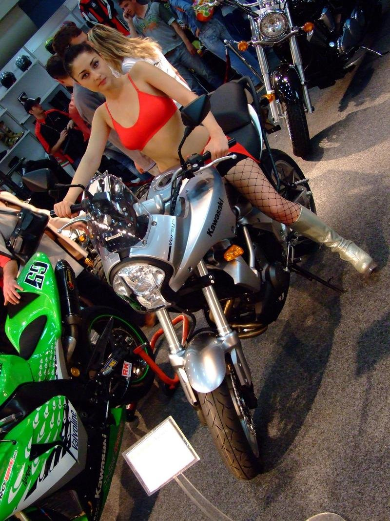 Babes and Motorcycle