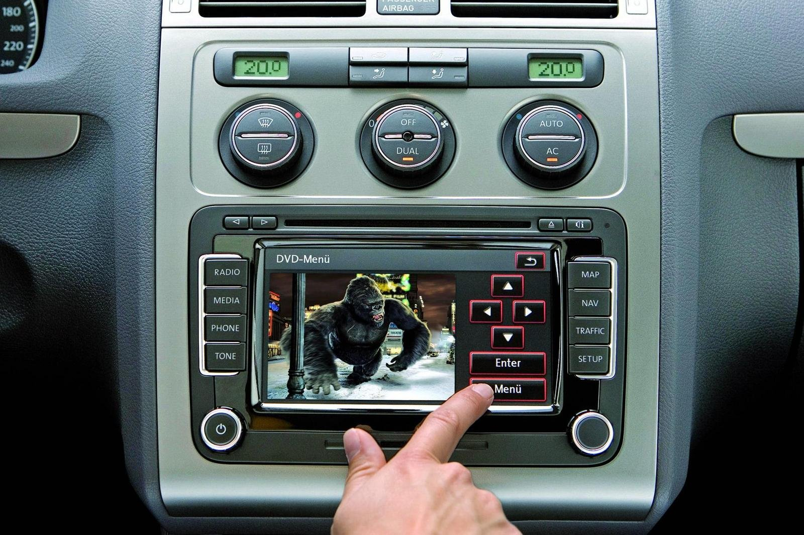 Touran Available With Rns 510 Radio Navigation System