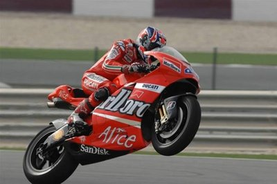 Casey Stoner wins the German Grand Prix pole position