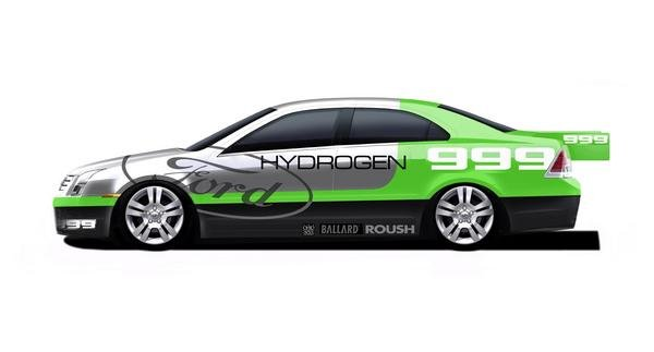 ford fusion hydrogen 999 to attemp speed record for fuel cell-powered vehicle picture