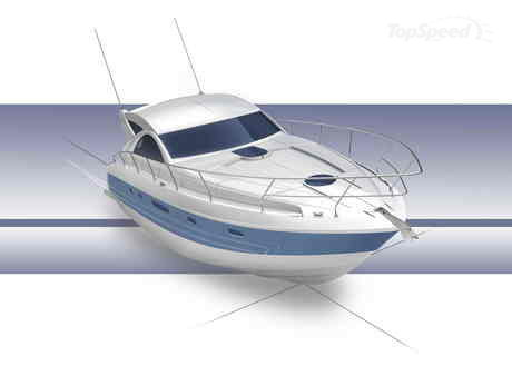 There are two engine options for the Fairline Targa 44: the twin 370 hp each ...