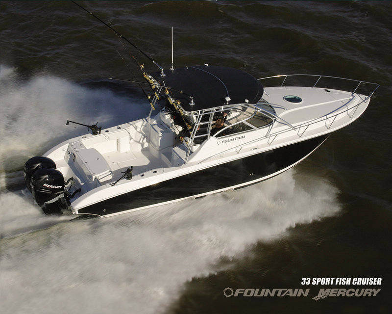 2007 Fountain Mercury 33 Sportfish Cruiser