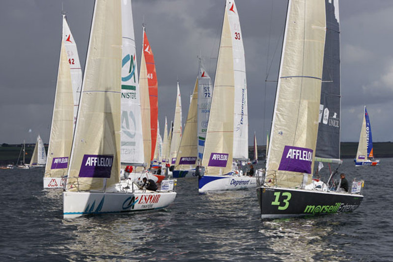 2007 Solitaire Afflelou Le Figaro – finishing line of the first leg