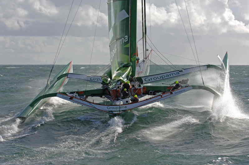 The Fastnet Race has been delayed and then cancelled for the ORMA multihull class