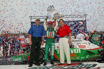 Tony Kanaan wins on the Michigan International Speedway