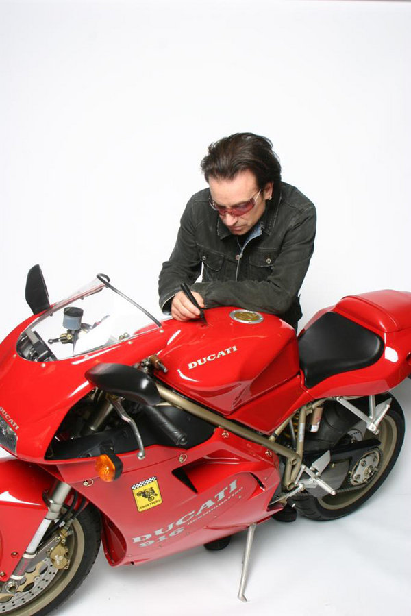 bono 8217 s bike to be auctioned at the international motorcycle and scooter show picture
