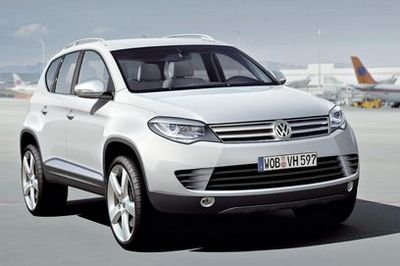 2010 Volkswagen Touareg inspired by the smaller Tiguan