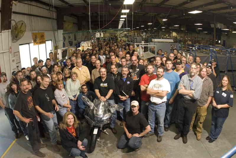 First liquid-cooled v-twin Buell rolls off the assembly line in East Troy, Wisconsin