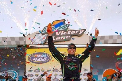 Kyle Busch tried to become the first driver who won three races in one weekend