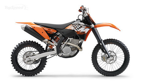 For 2008 the KTM 250 XC-F is not only characterized by a very light and