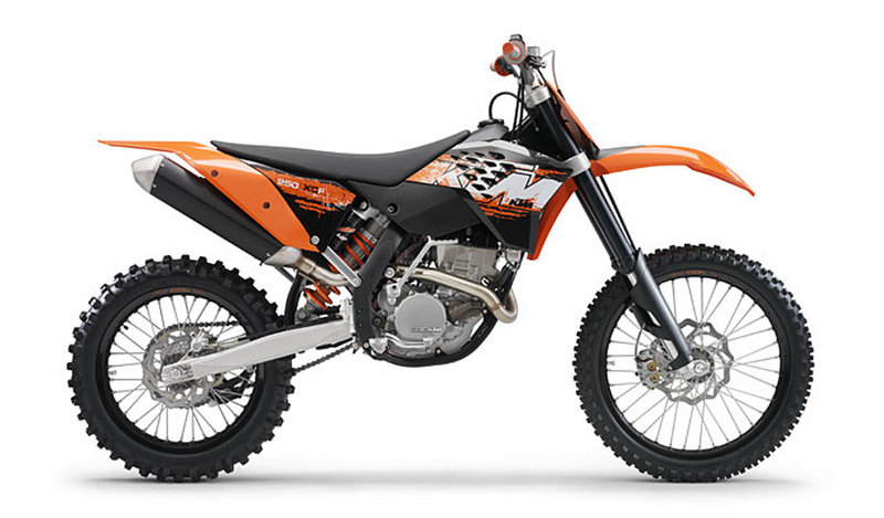 2008 KTM 250 XC-F and XCF-W