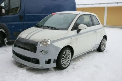 Abarth 500 SS spy shots