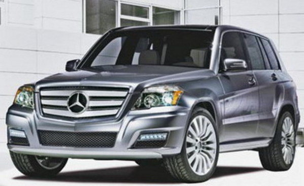 mercedes glk production version photos leaked picture