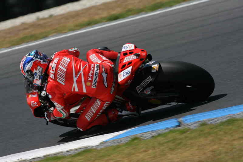 Perfect start to Phillip Island test for Stoner and Melandri