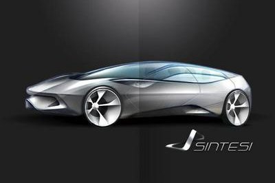 Pininfarina Sintesi first sketch