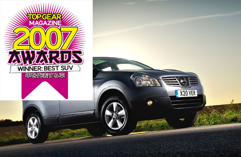 Top Gear voted Nissan Qashqai best SUV