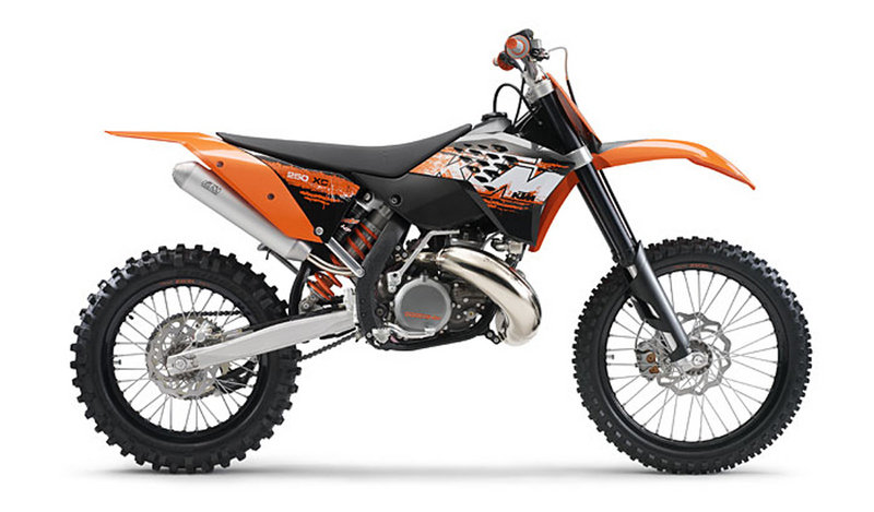 2008 KTM 250 XC and XC-W (e)