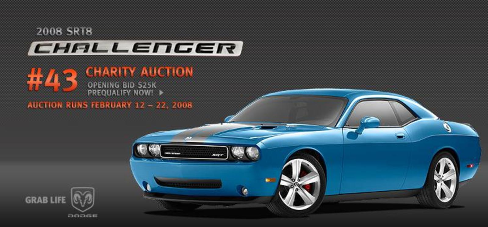 B5 Blue Challenger Srt8 Auctioned For Charity News Top Speed
