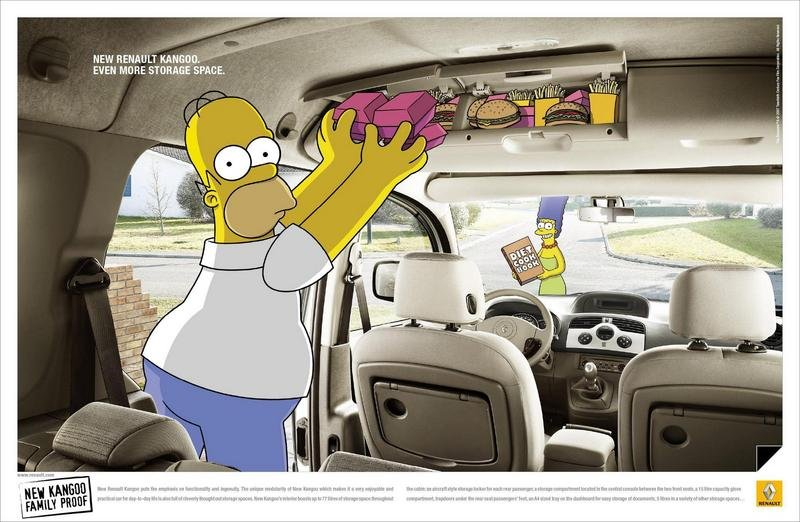 Renault Kangoo and The Simpsons