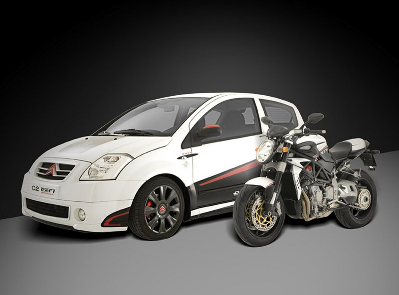 Mv Agusta and Citroën Italia to present the new C2 1587 Brutale