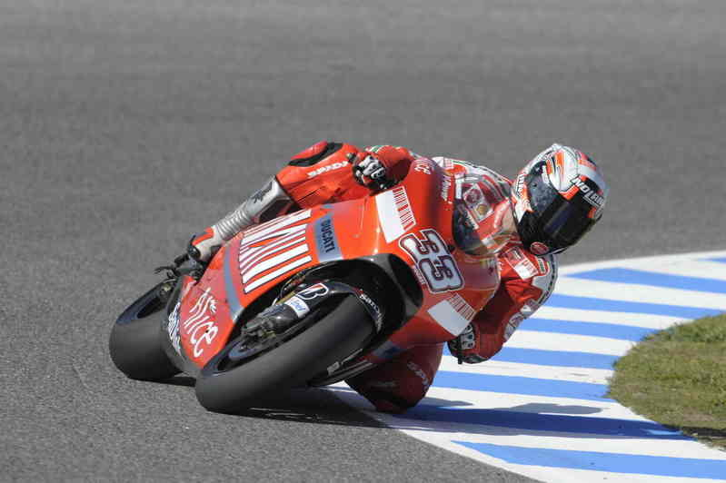 Steady start for Stoner and Melandri in Jerez