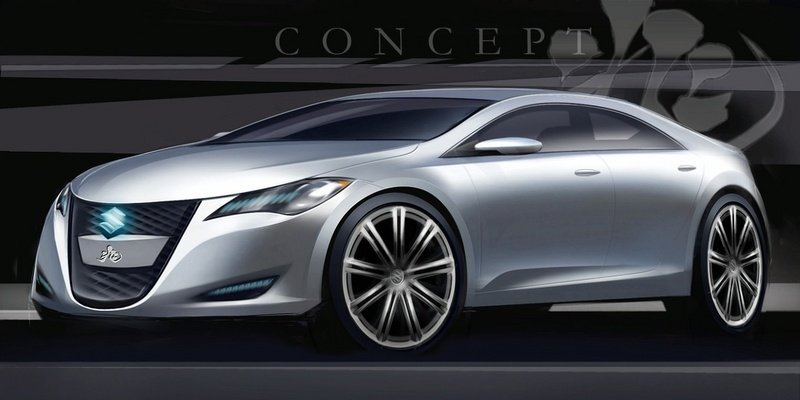 Suzuki Kizashi 3 Concept - first official rendering