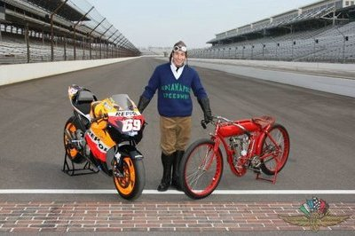 Hayden opens Indianapolis MotoGP on a 1909 Indian