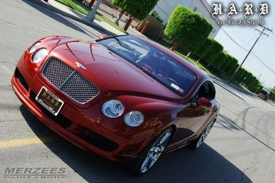 "Ice T's ""murder red"" Bentley Continental"
